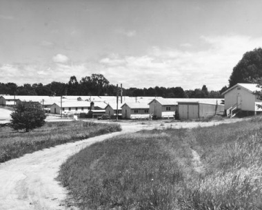 Migrant Hostel on Capital Hill in Canberra - photo courtesy National Library, an22840215-v