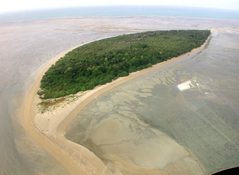 Aerial view of Deliverance Island