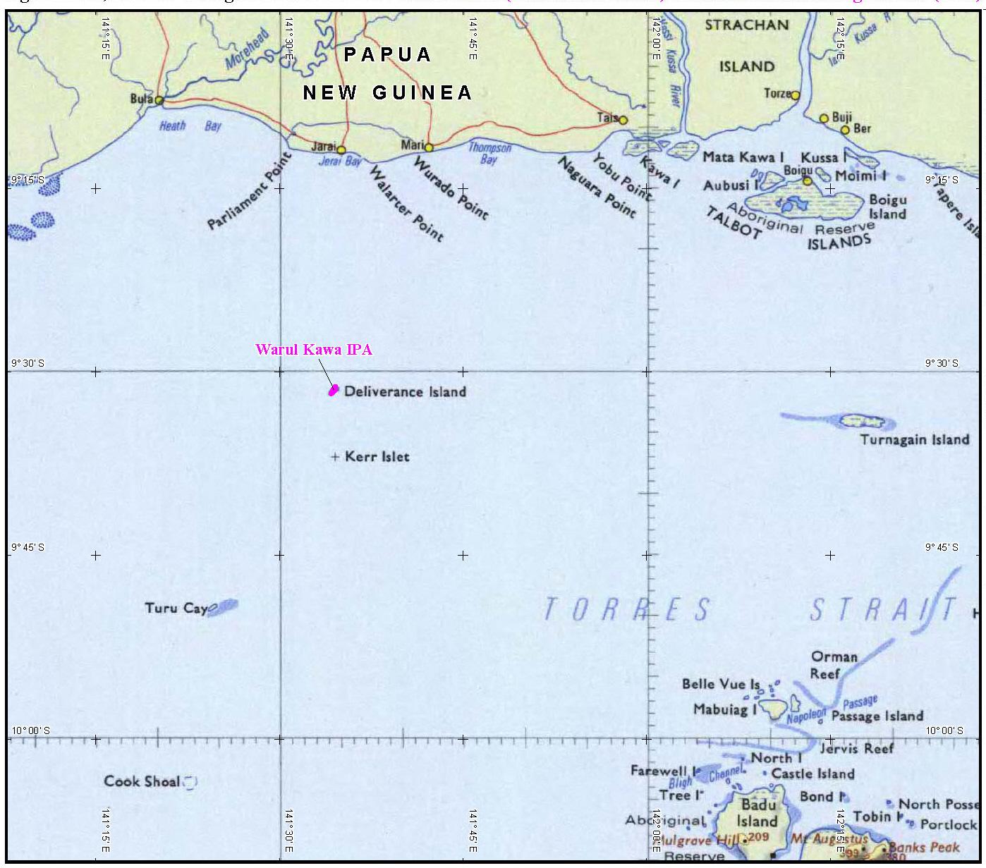 Torres Strait Islands Map Map of Torres Strait