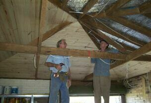 Ian and yours truly under the rafters