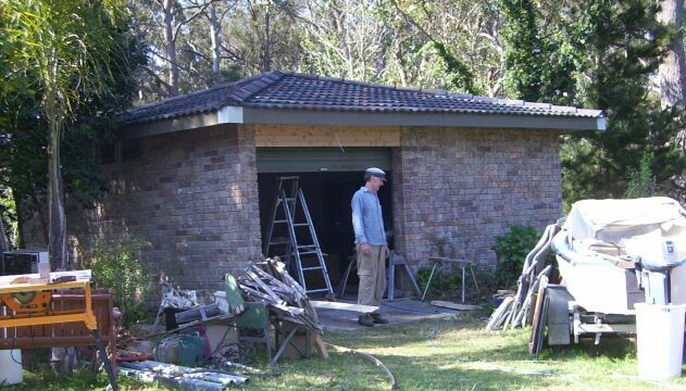 The garage renovation in full swing