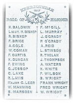 The Nerrigundah Honour Roll of World War I